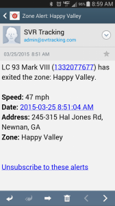 Email for Zone Alert